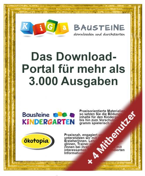 Mitgliedschaft bei KiGa-Bausteine (Kindergarten-Paket / 1.000 Credits)