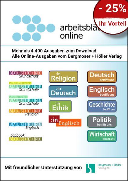 Referendar-Mitgliedschaft bei Arbeitsblätter Online (750 Credits)